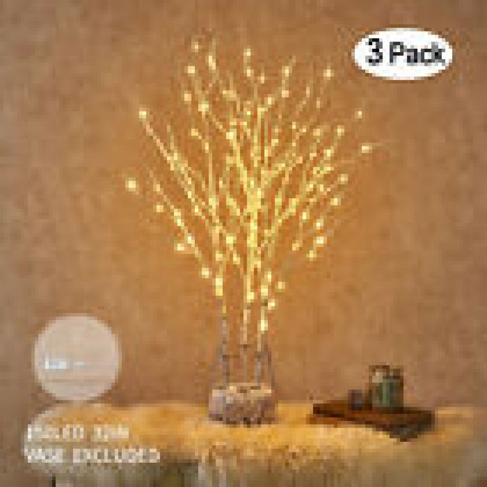 Hairui Led Twig Branch Lights Plug In Lighted Willow Branch Christmas Home Decor Twig Lights Willow Branches Fairy Lights