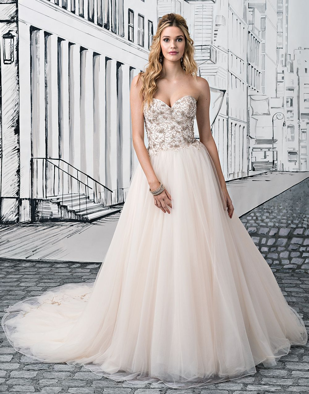 Justin alexander wedding dresses style a natural the oujays