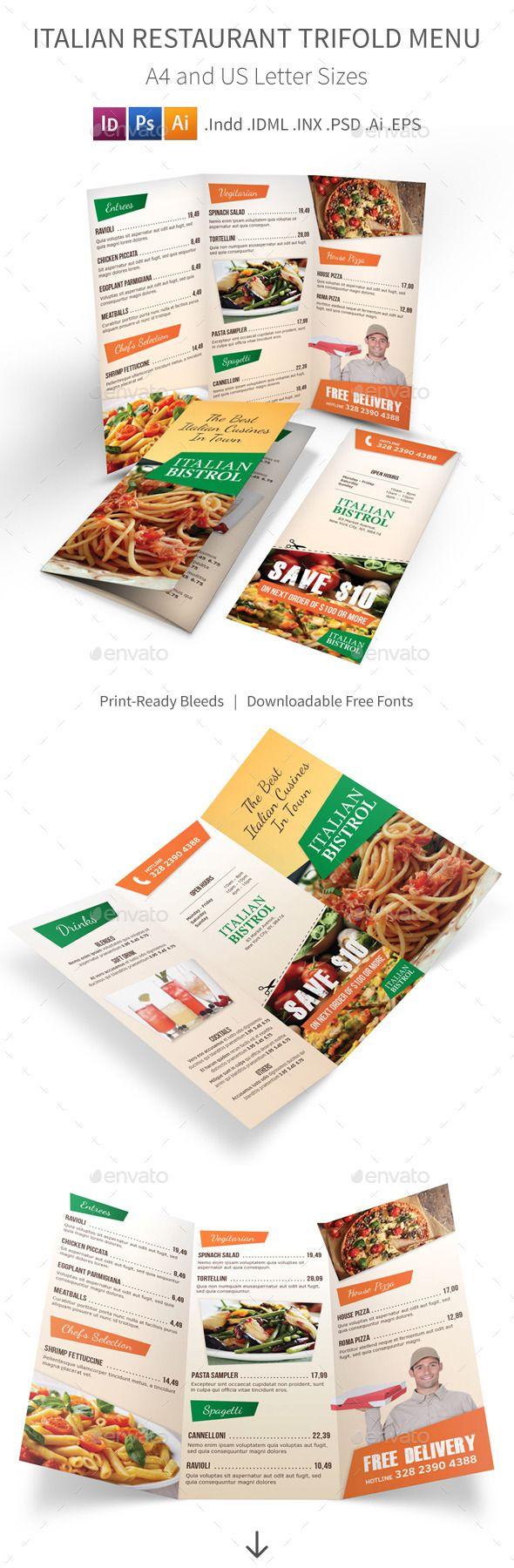 trifold menu template