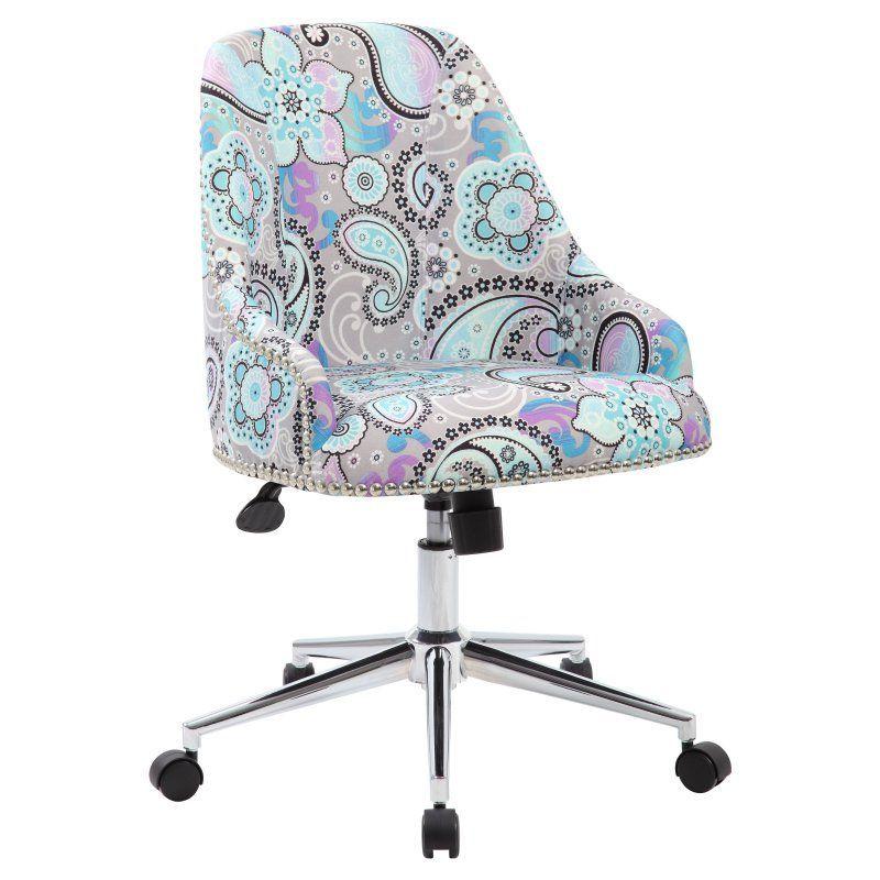Boss Carnegie Desk Chair Paisley - B516C-PAS