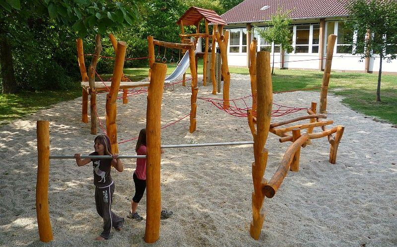 Klettergerüst Kindergarten Outdoor : Kletterkombinationen und klettergerüste mit seilen netzen