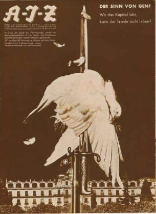 John Heartfield     Where Capital Lives, Peace Cannot Survive -Cover for AIZ (Arbeiter Illustrierte Zeitung)      1932