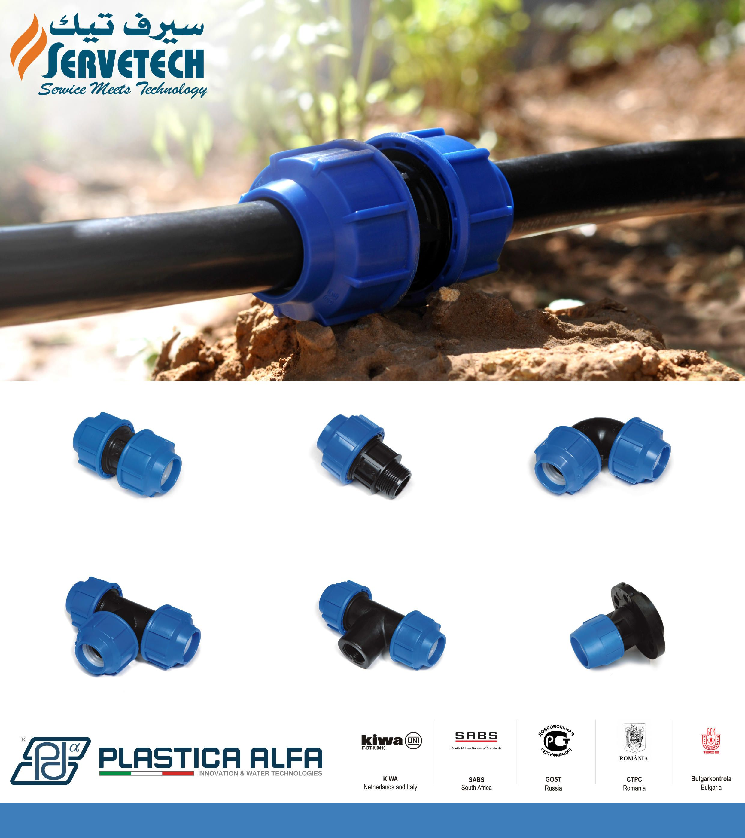 Servetech Is The Authorized Distributor Of Plastica Alfa In The Middle East Market Plastica Alfa From Italy Manufactures Black Line Fittings Are Used To Conne