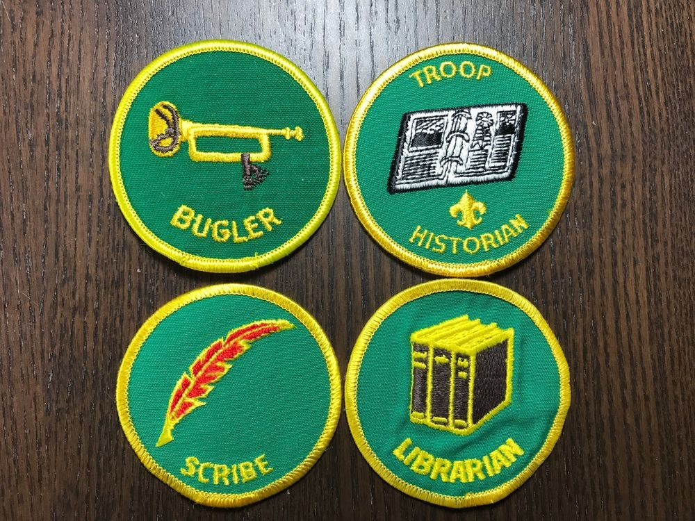 Boy Scout BSA Troop Position Patch guys - Librarian, Scribe