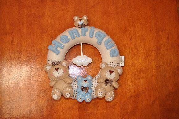 Guirlanda Porta de Maternidade ursinhos
