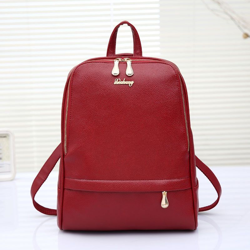 High Quality Fashion bags College Leisure Lady bags String Shoulder Diagonal Zipper & Hasp Solid Solid Luggage & Bags Handbags