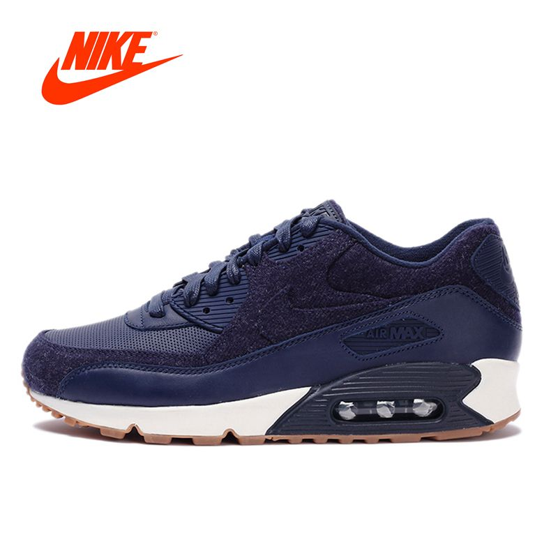 check out 60f49 f95c4 Original New Arrival Authentic NIKE AIR MAX 90 PREMIUM Men s Breathable  Running Shoes Sport Outdoor Sneakers 700155-401