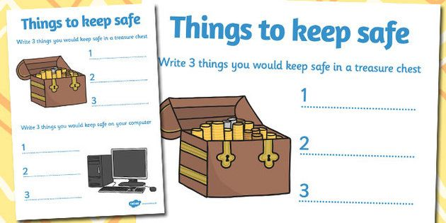 Internet Safety Things to Keep Safe Activity Sheet – Internet Safety Worksheets