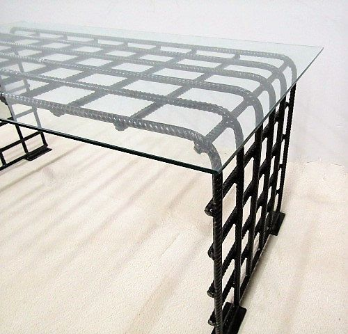 This Sleek And Rustic Industrial Table Would Look Great In