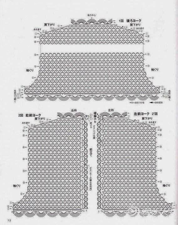 CARAMELO DE CROCHET: crochet japones | Gráficos | Pinterest ...