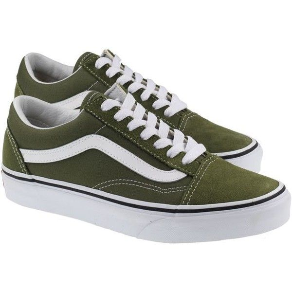 cb39eb84a81 Vans Trainers Womens Old Skool Winter Moss True White (€60) ❤ liked on Polyvore  featuring shoes
