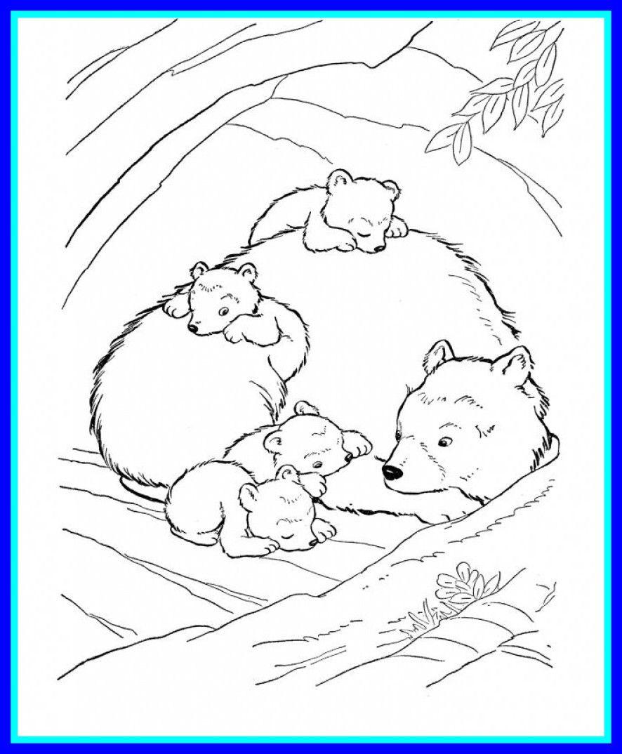 Printable Hibernation Coloring Pages - Lautigamu