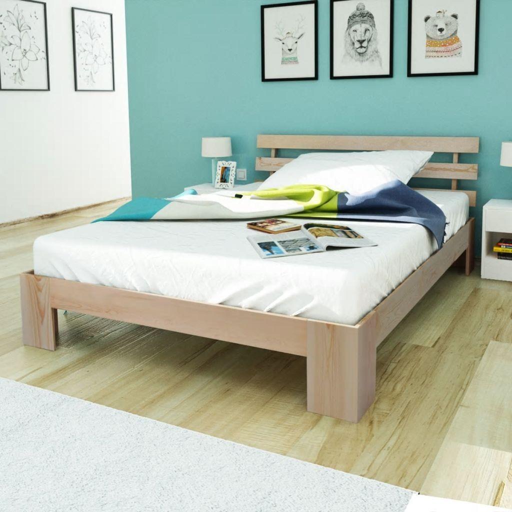 seng 140 Seng 140 x 200 cm massiv furu naturell , Denne furutresengen har  seng 140