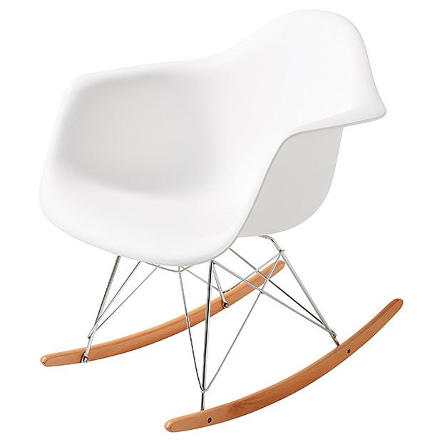 Replica Eames Dar Rocking Chair White Baby Toddler Room