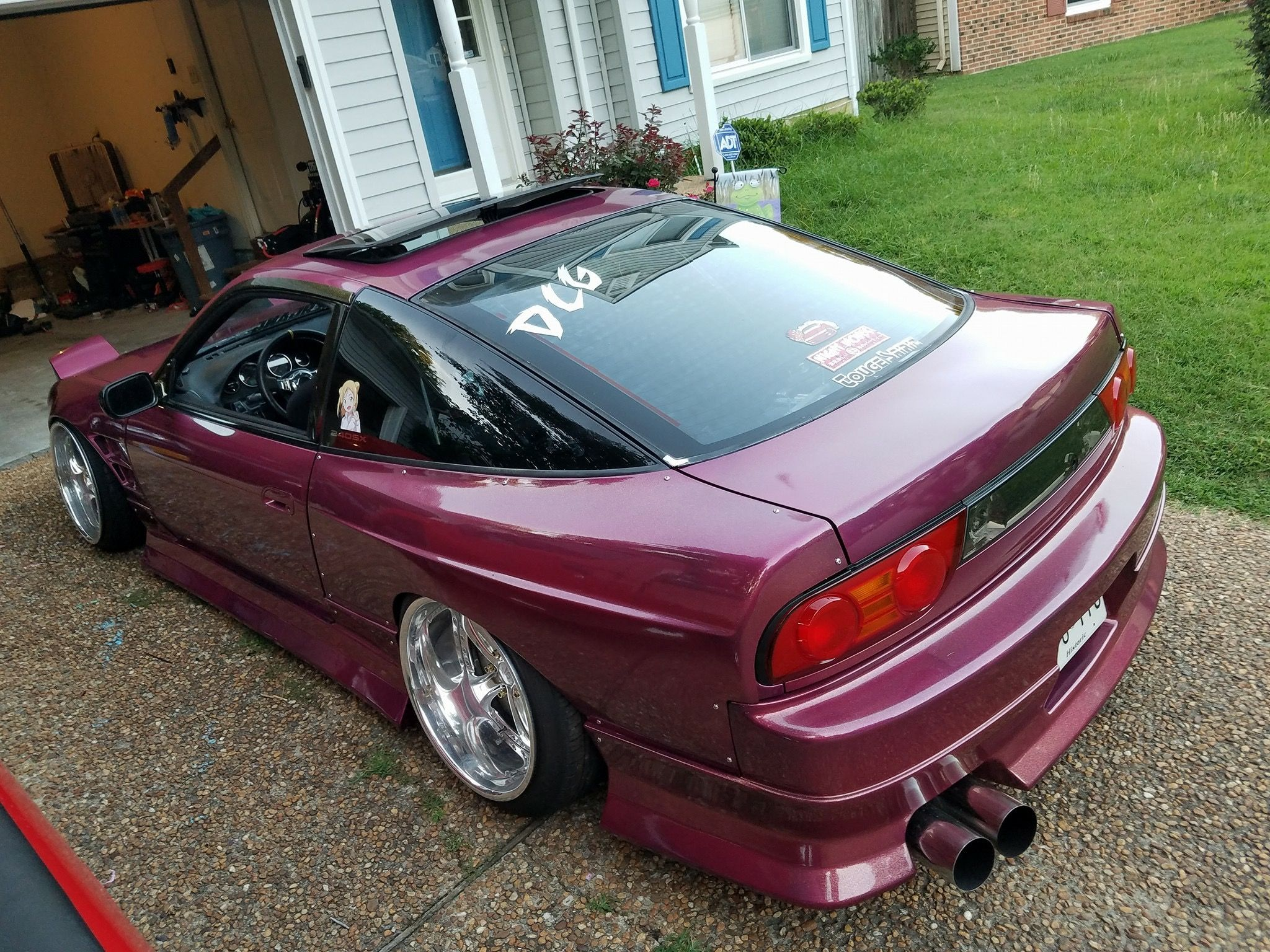 Nissan Silvia S13 Rsp13 180sx 240sx Hatch Modified Slammed Lowered Stance Fitment Widebodyflares Driftbuild Drifting Cars Drift Cars Tuner Cars