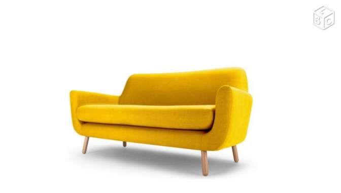 Canapé 3 places style scandinave coloris jaune Ameublement Seine-Saint-Denis - leboncoin.fr