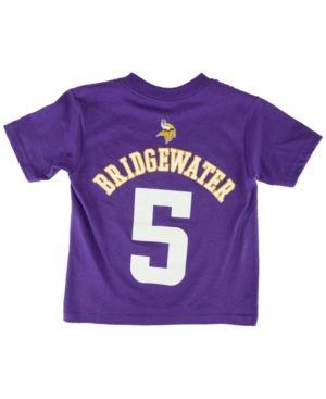 Outerstuff Toddlers  Short-Sleeve Teddy Bridgewater Minnesota Vikings  Player T-Shirt - Purple 0f64052b6