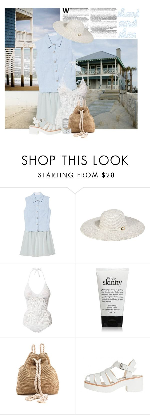 """*a day at the beach*"" by lady-ju ❤ liked on Polyvore featuring Thakoon Addition, Melissa Odabash, Hot Anatomy, philosophy, Bop Basics and Cara"