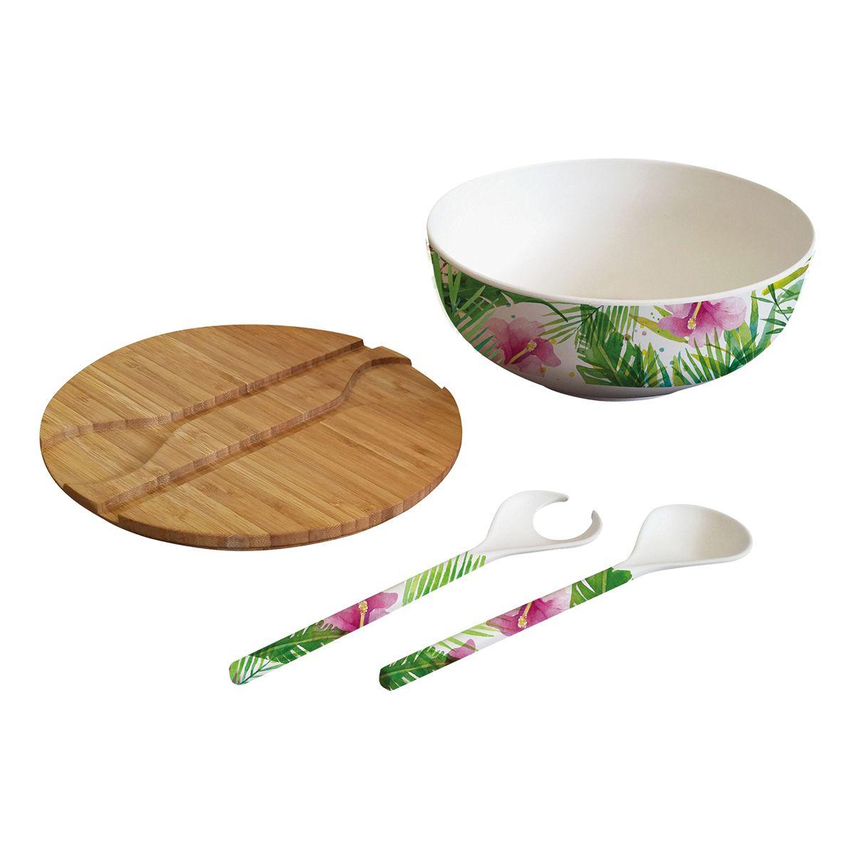 Bamboo Salad Bowl Tropical Ppd Paperproductsdesign Saladbowl