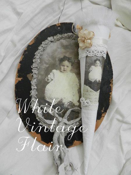 Vintage Deko - Vintage /  Shabby / Nostalgische Zuckertüte - ein Designerstück von whitevintageflair bei DaWanda