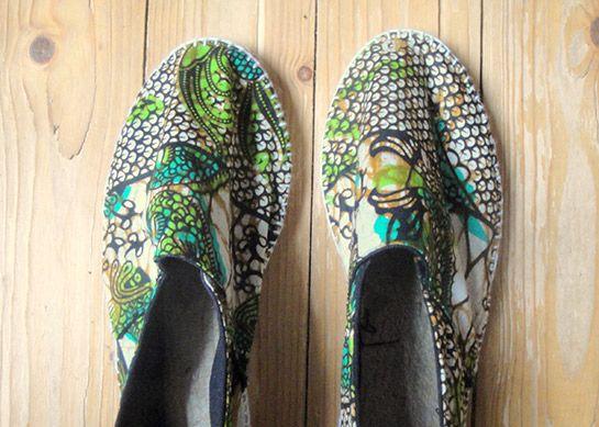 Farbenfrohe Espadrilles aus afrikanischem Stoff | DIY LOVE