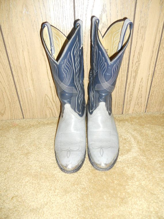 vintage cowboy boots tony lama western mens by ATELIERVINTAGESHOP, $75.00