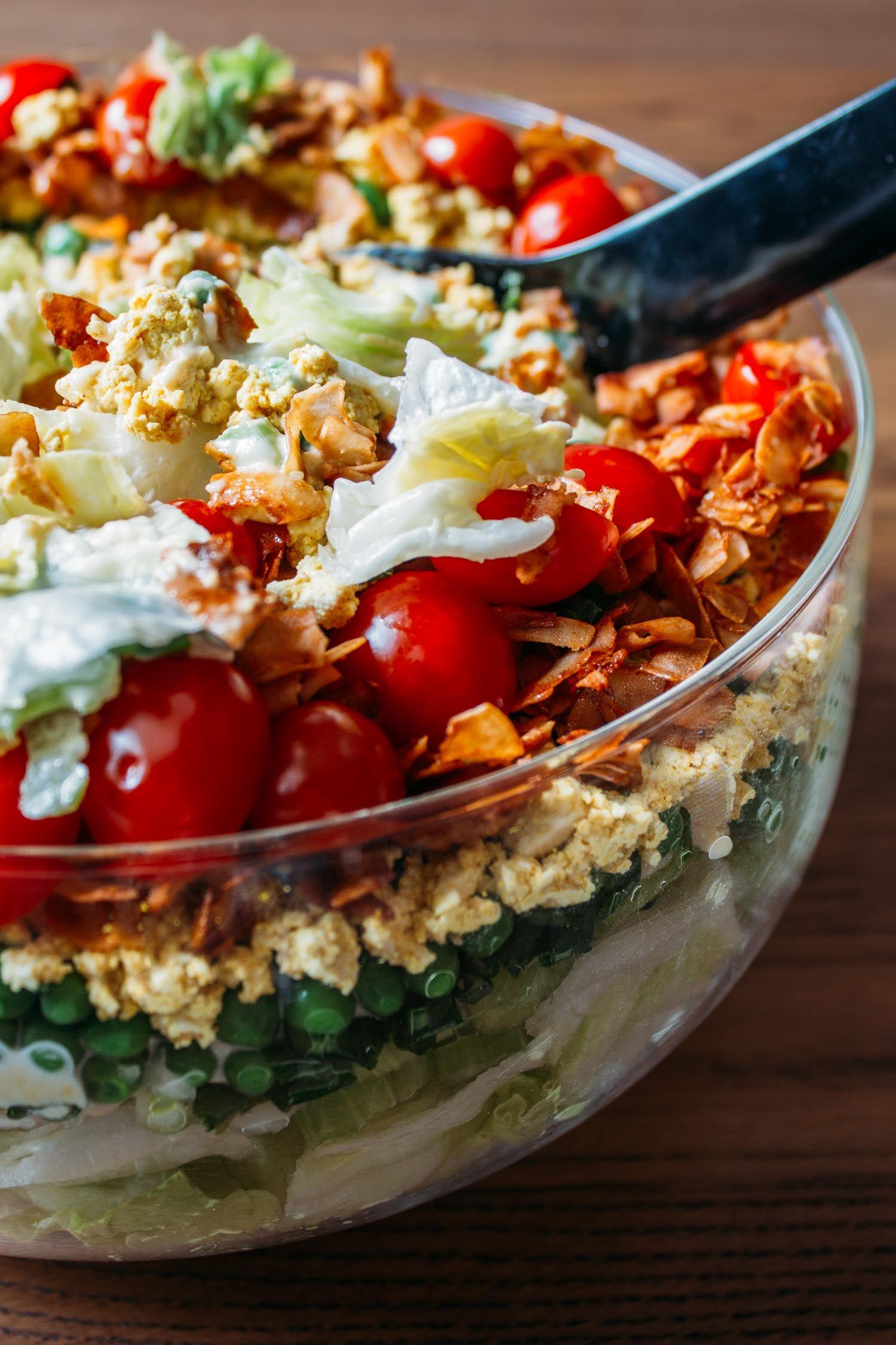 Vegan 7 Layer Salad Recipe Veeg Recipe Layered Salad Recipes Layered Salad 7 Layer Salad