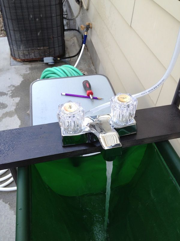 Camp Sink With Faucet.How To Add A Faucet To A Camp Kitchen Finally A Good Camp