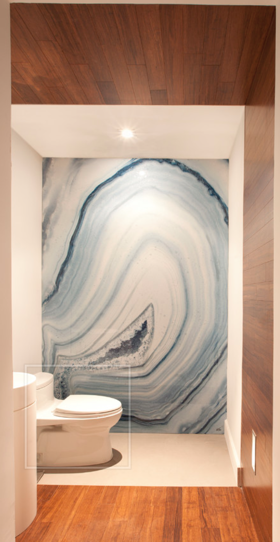 It S A Printing And Coating An Image With Laminate These Waterproof Art Panels Are Designed To Withstand Extreme Environ Home Bathroom Wall Decor House Design