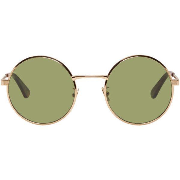 1c0604cf9ef Saint Laurent Gold SL 136 Zero Retro Sunglasses (1