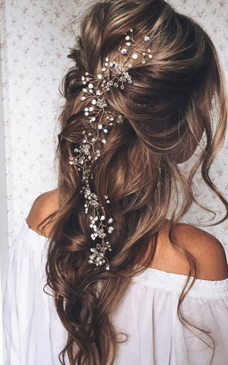 Prom Hairstyles Down Hair Accesories  Wedding  Pinterest  Hair Style Wedding And Weddings