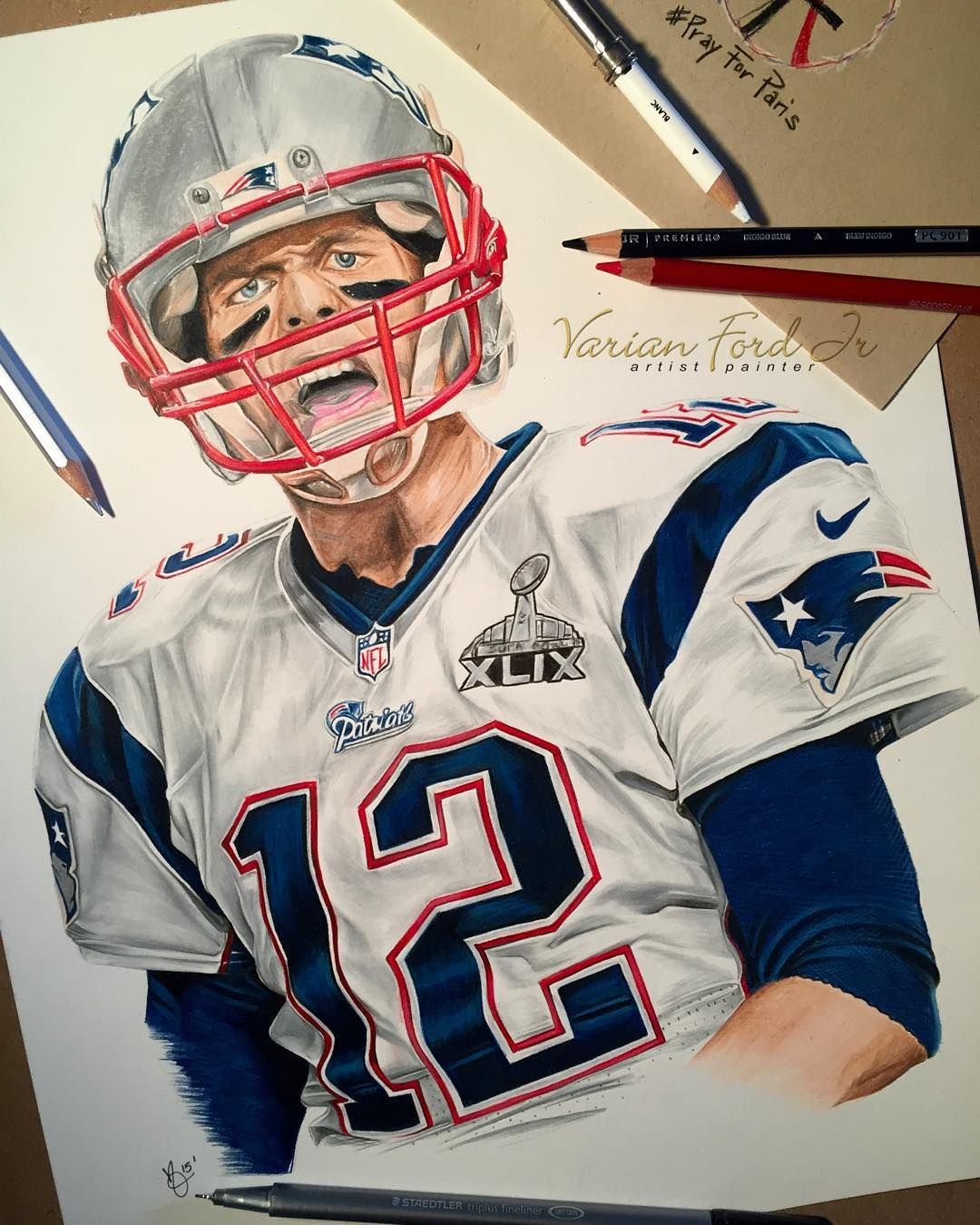 Miami Fl Artist On Instagram All Done Pencil Drawing Of Tom Brady Tag The Patriots And Patriots Fans Artforeve Tom Brady New England Patriots Patriots