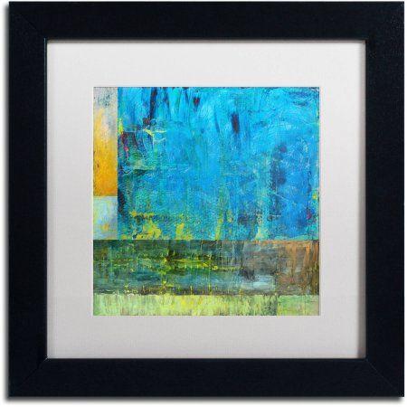 Trademark Fine Art Essence Of Blue 2 Inch Canvas Art By Michelle Calkins White Matte Black Frame Size 11 X 11 Framed Art Trademark Fine Art Trademark Art