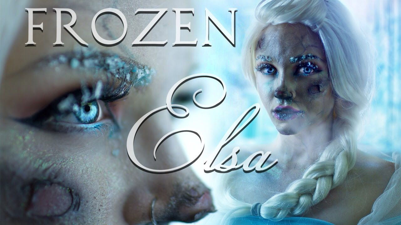 Frozen tutorial frostbite elsa halloween pinterest elsa frozen frostbite elsa makeup tutorial good for bruises and such baditri Image collections