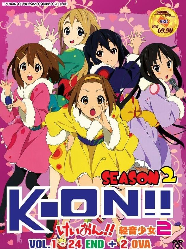 DVD JAPANESE ANIME KON!! Season 2 Vol.124End + 2 OVA