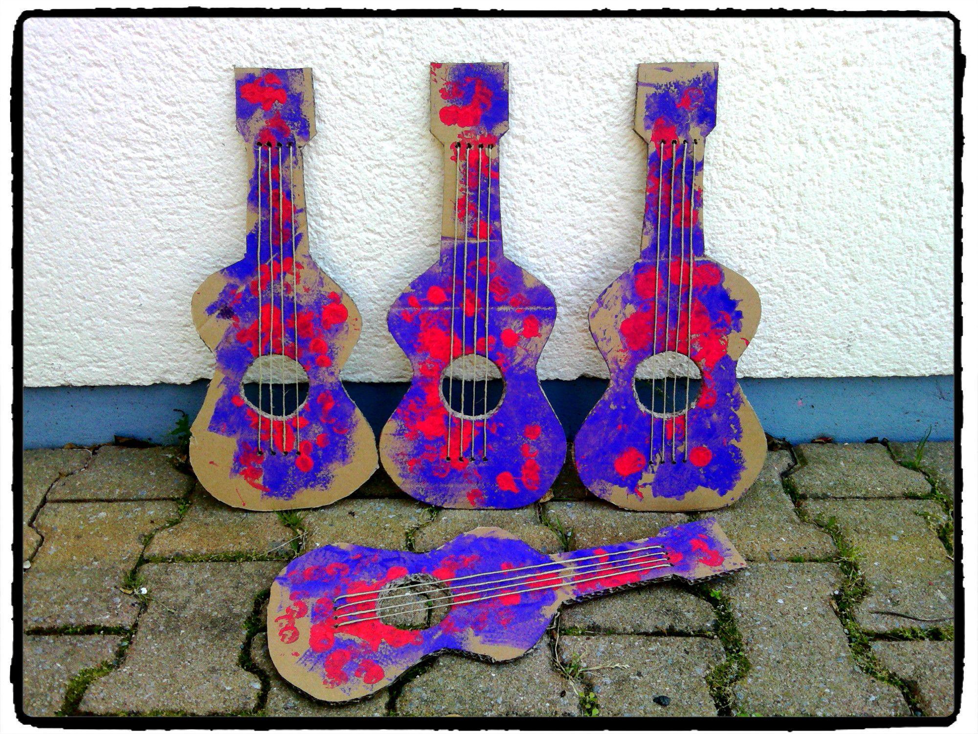 Préférence fabriquer sa guitare en carton, instrument de musique, fête de la  ZF91