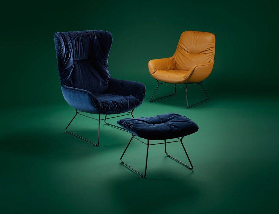 Leya Lounge Chair Mit Drahtgestell Freifrau Sitzmobelmanufaktur Lounge Chair Lounge Mobel