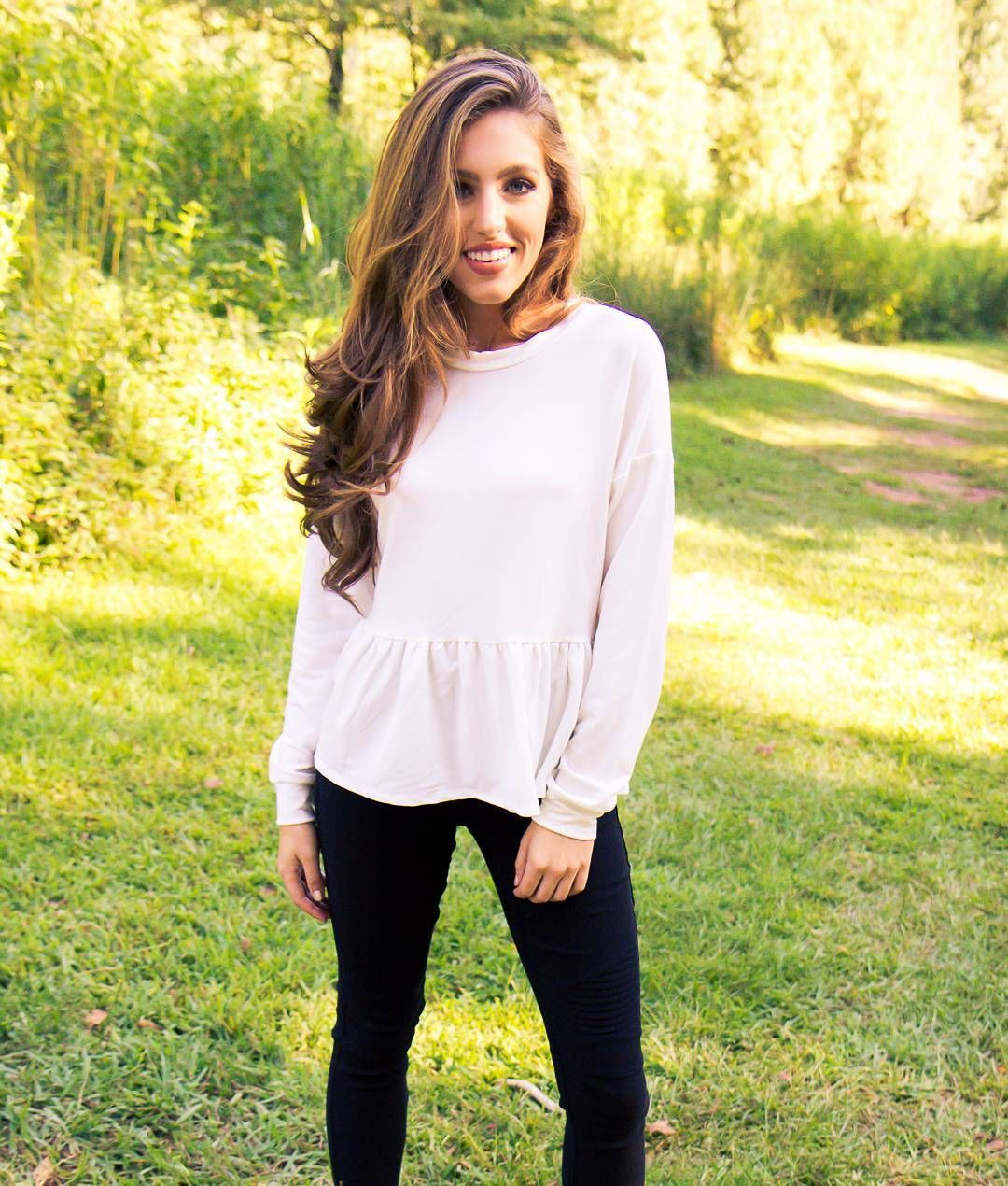 "Our ""Frills & Thrills Top"" is currently our best-selling top AND the perfect base to your fall wardrobe. Get it before they're gone at www.AthenaAttire.com"