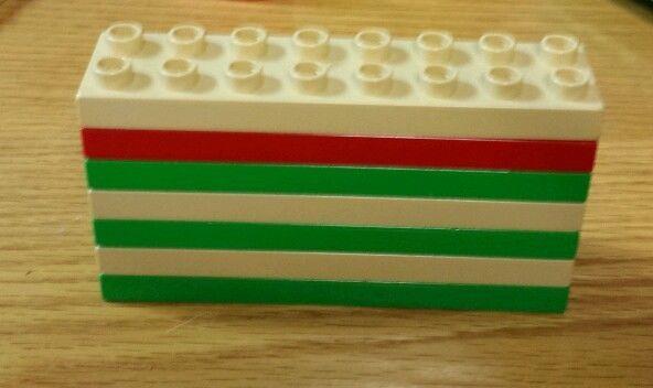 Duplo Building blocks bricks lot of 7 pieces  2x8 2 x 8 thin  plates green red  #duplo $5.00