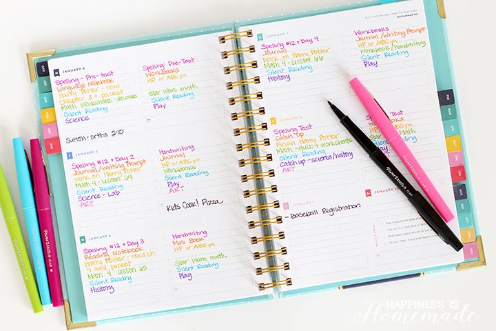 photograph about Emily Ley Planners named My Homeschool Planner - Emily Ley Weekly Planner and Coloration