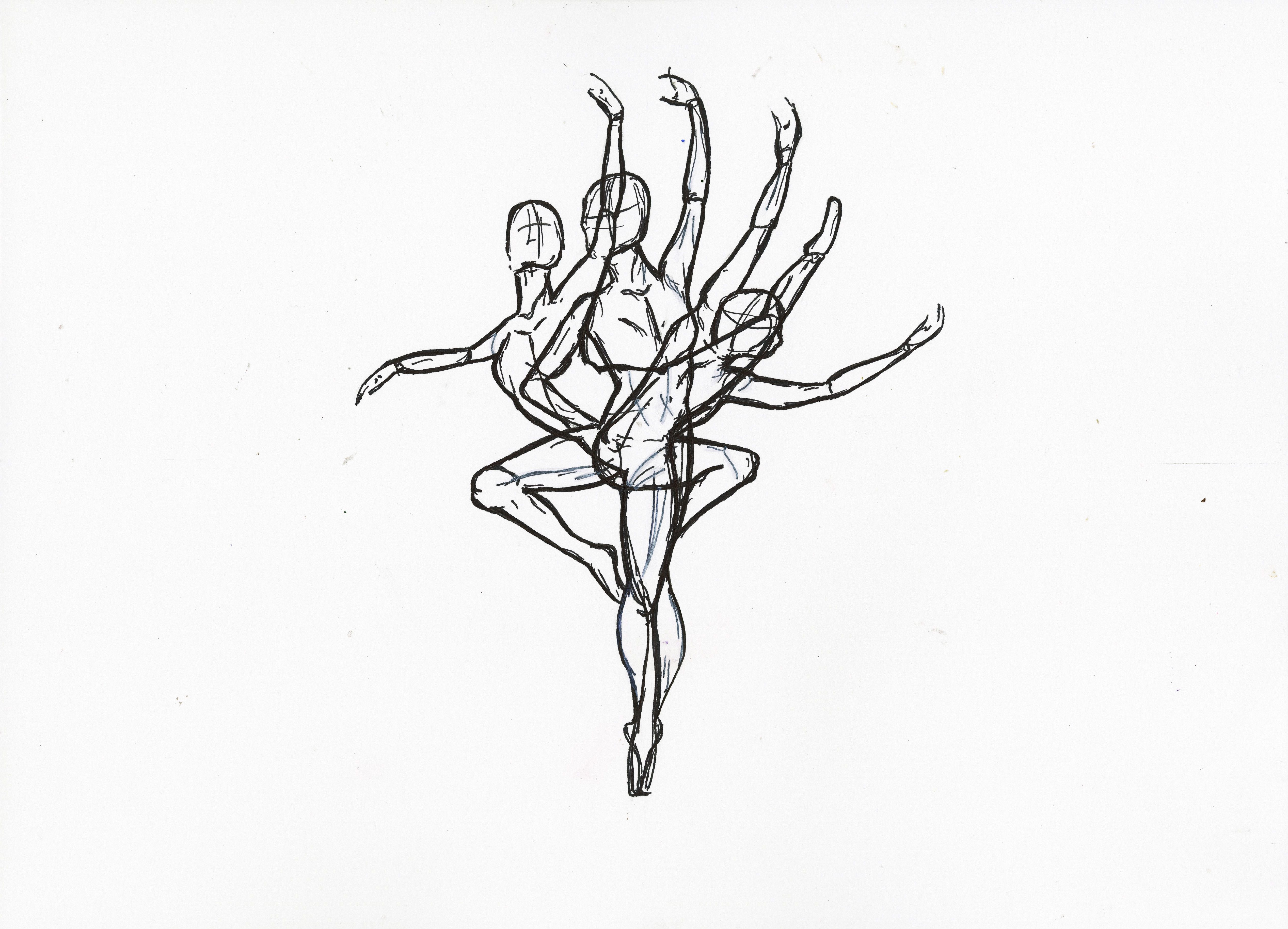 My dancers movement piece #dance #movement #motion #ink # ... - photo#40