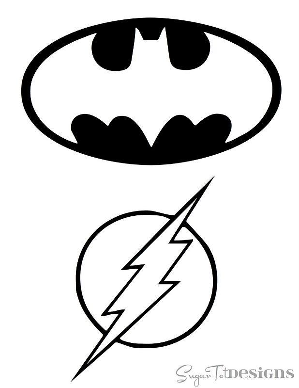 Free Printable Superhero Logos From Sugar Tot Designs Batman Green Lantern Superman Flash Batman Birthday Superhero Superhero Room