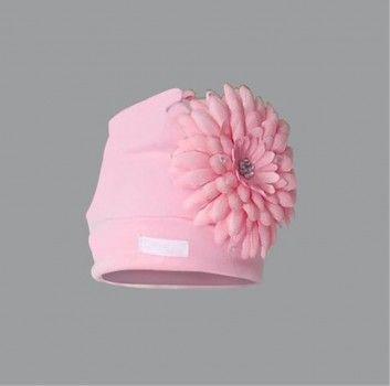 Pink Daisy Flower Hat (1525H) http://creambebe.com/