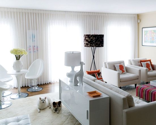 Furnitures cool contemporary living room with white for Decoration armoire salon