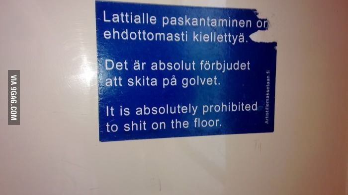 Absolutely prohibited