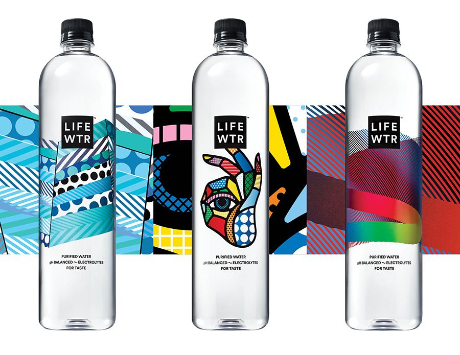Lifewtr Bottle Design Packaging Water Bottle Design