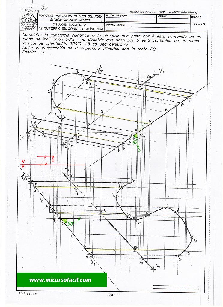 Dibintcilyrecta221 Si1 Geometria Descriptiva Geometria Ingenieria