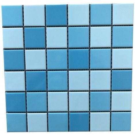 Porcelain Mosaic Tile Blue Mosaic Tile Mosaic Tiles Porcelain Mosaic Tile