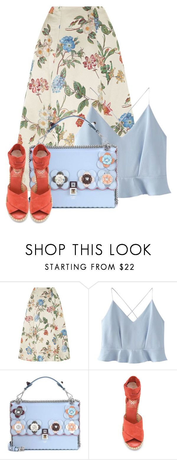 """A Little Bit of ""Alice + Olivia"" for Summer!!"" by bliznec ❤ liked on Polyvore featuring Alice + Olivia, WithChic, Fendi and Vince Camuto"