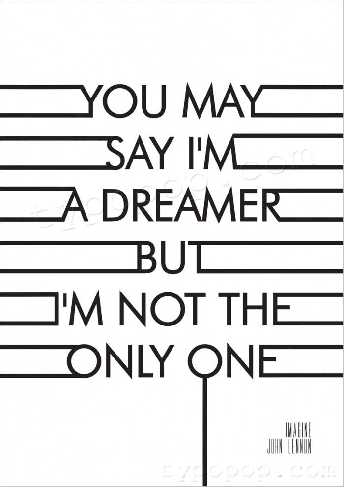 Imagine Lyrics John Lennon Printable Poster Dreaming Makes Life Worth Living